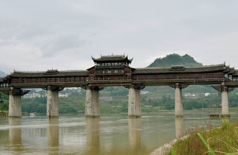 The longest covered bridge in Asia to be re-designed after the fire
