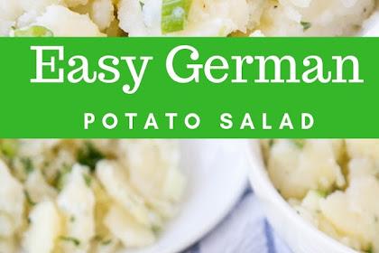 Easy German Potato Salad #christmas #salad