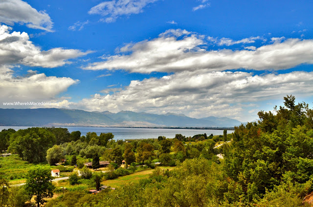 Ohrid Lake - view from St. Erasmos church near Ohrid, Macedonia