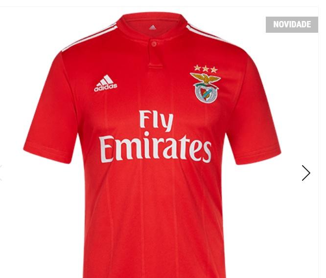 850afd054b400 Questão  comprou a camisola oficial do Sport Lisboa e Benfica