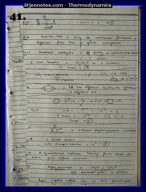 Thermodynamics Notes IITJEE 9