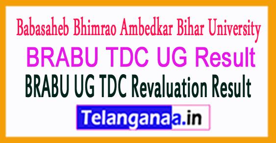 BRABU TDC UG Result 2018 BRABU UG TDC Revaluation Result 2018