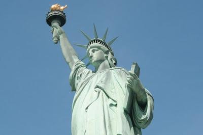 Una foto reale della Statua della Libertà