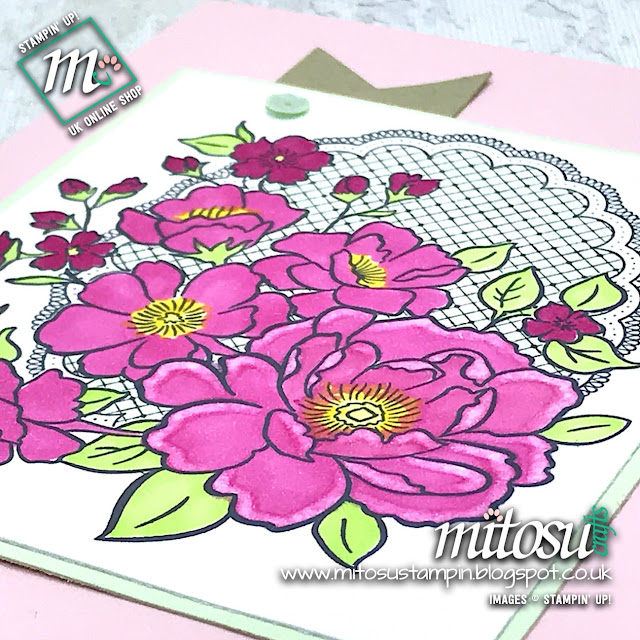 Stampin' Up! Lovely Lattice FREE Sale-A-Bration Stamp from Mitosu Crafts UK Online Shop