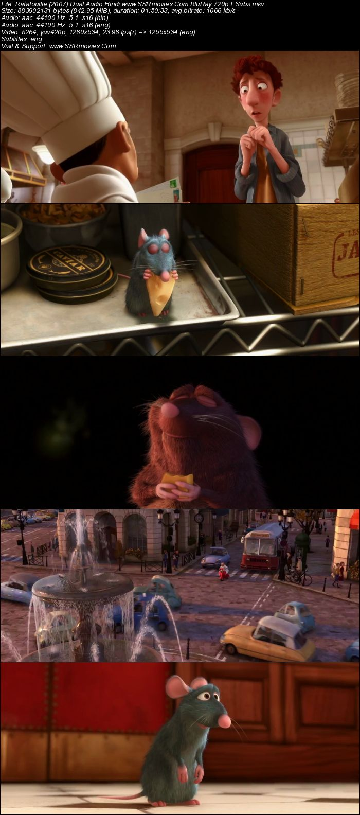 Ratatouille (2007) Dual Audio 720p