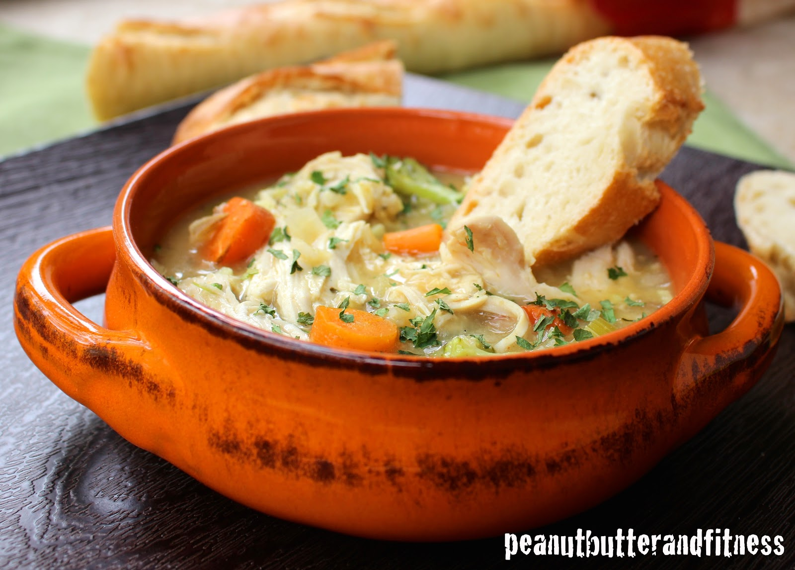 Chicken, Broccoli  Wild Rice Soup - Peanut Butter And Fitness-8631