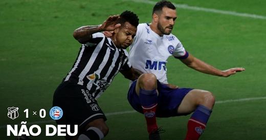 Bahia vacila na defesa e perde para o Ceará
