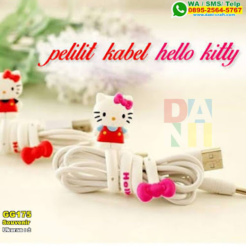 Souvenir Pelilit Kabel Hello Kitty