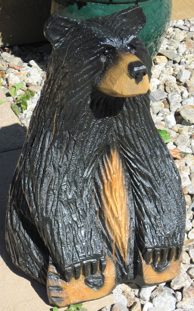 Rustic Chainsaw Carved Bears