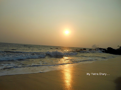 Sunset at the beach in Kannur homestay, Kerala