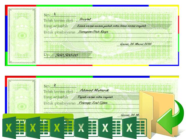 Aplikasi Kwitansi Laporan BOS Cetak Format Excel Otomatis