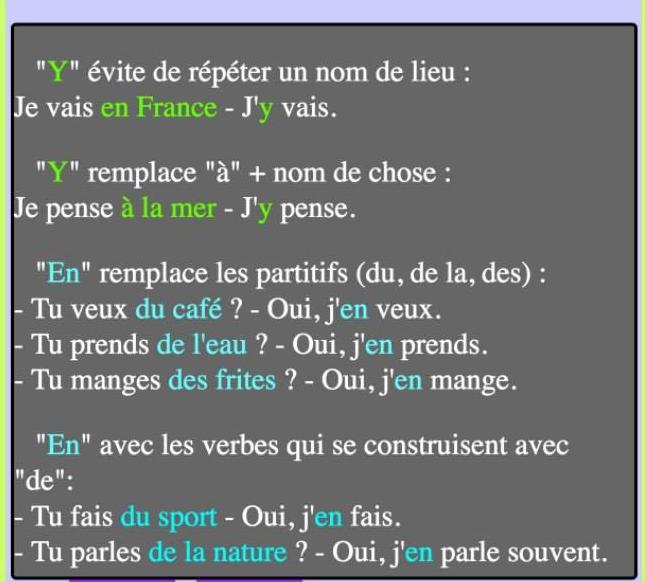 Zaimek en i y - teoria 3 - Francuski przy kawie