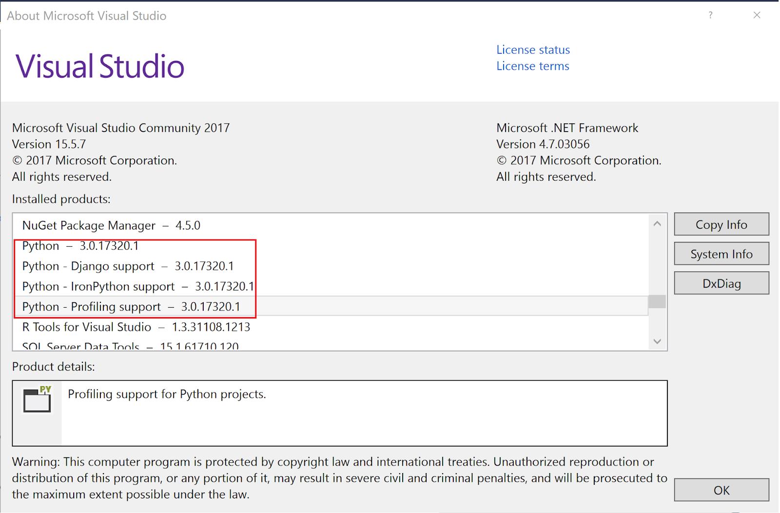 Hodentek: Python support in Visual Studio Community 2017