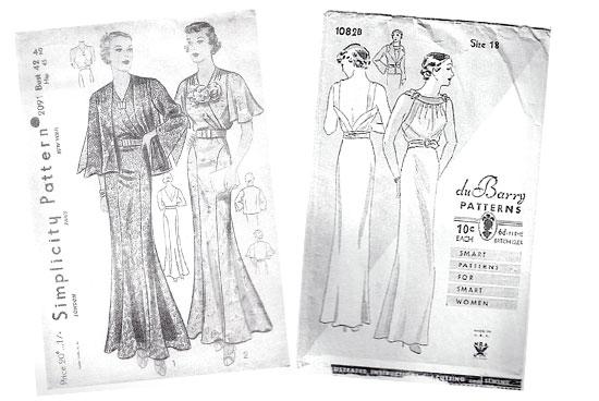 Vintage 30s dress pattern Lady by Choice Simplicity DuBarry