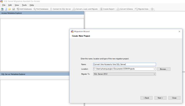 Cách chuyển từ Access sang SQL Server