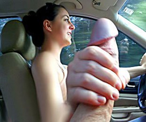 Slutty Indian GF Giving Blowjob While driving