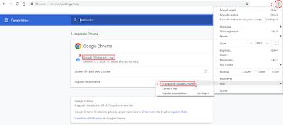 Copie écran Navigateur Chrome