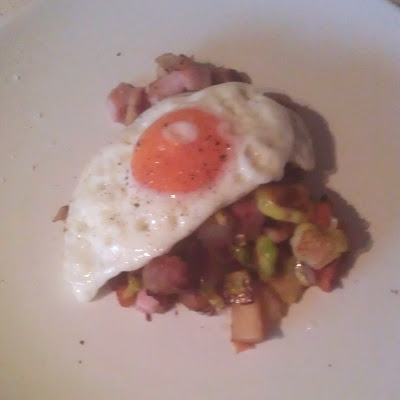 Gingeybites bubble and squeak topped with a fried egg