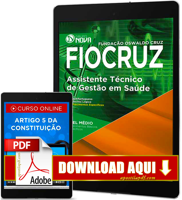 Apostila FIOCRUZ 2016 PDF Download Assistente Técnico de Gestão em Saúde PDF