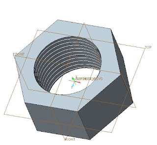 Creo Parametric Nut Design 2
