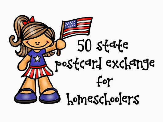 I created a group on facebook - 50 state postcard exchange for homeschoolers!!!
