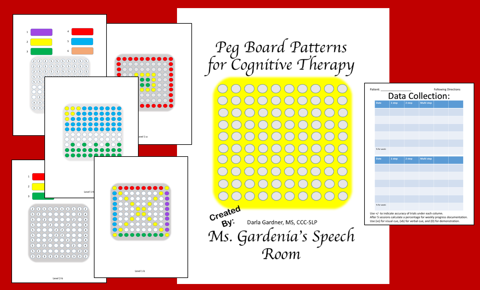 Ms Gardenia S Speech Room Cognitive Activity Using Peg Board For Speech Therapy In Snf