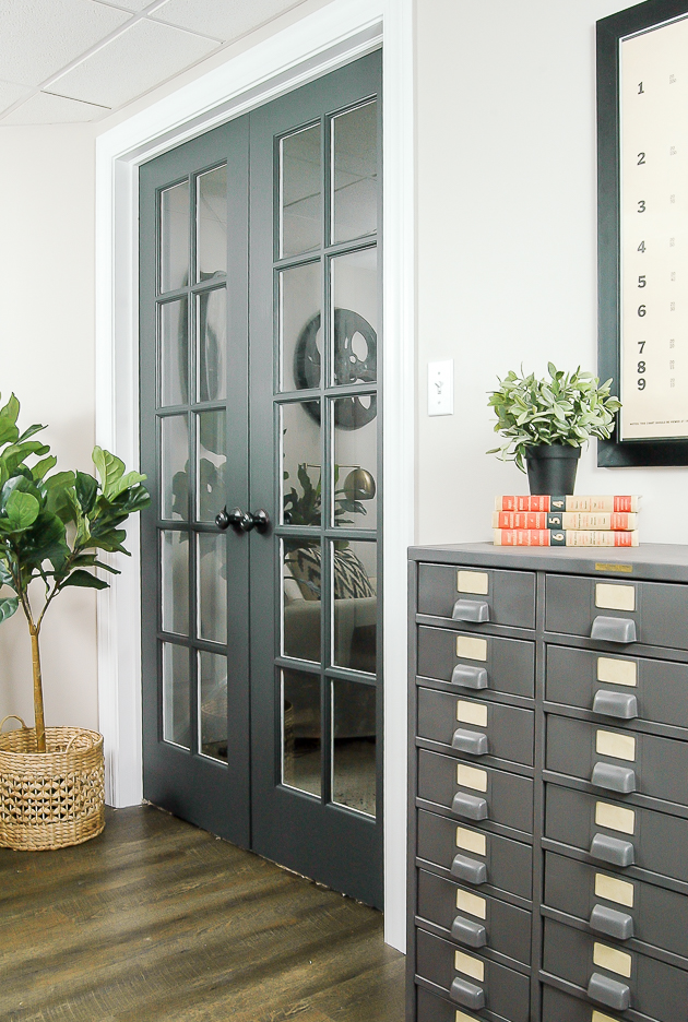 The Power of Paint: Dark Painted Interior French Doors ...