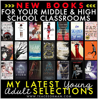 New books for your middle and high school classroom library www.traceeorman.com