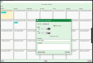 برنامج, انشاء, وعمل, التقاويم, والملاحظات, المشفرة, على, سطح, المكتب, Calendar ,Lock ,PEA