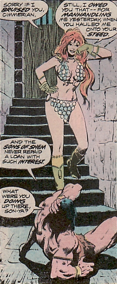 Conan the Barbarian #44, Red Sonja, dungeon