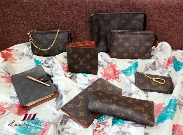 luxury goods louis vuitton monogram canvas accessories