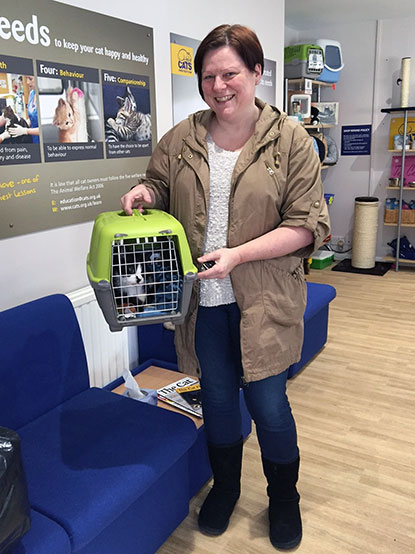Fusa going home with her new owner