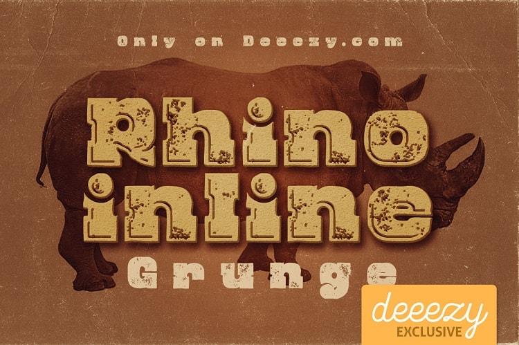 Font Edisi April 2017 - Rhino Inline Grunge Font