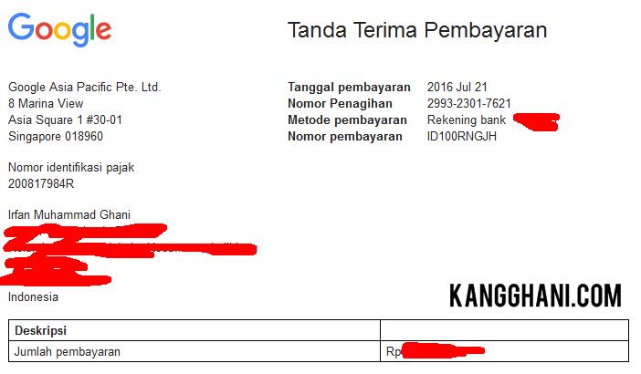 Pengalaman Mendapatkan Uang dari Internet (Google Adsense) - Kang ...