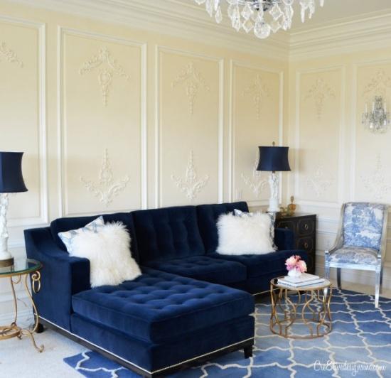 Inspiração décor u2013 sofá de veludo Casinha colorida - moderne modulare kuche komfort