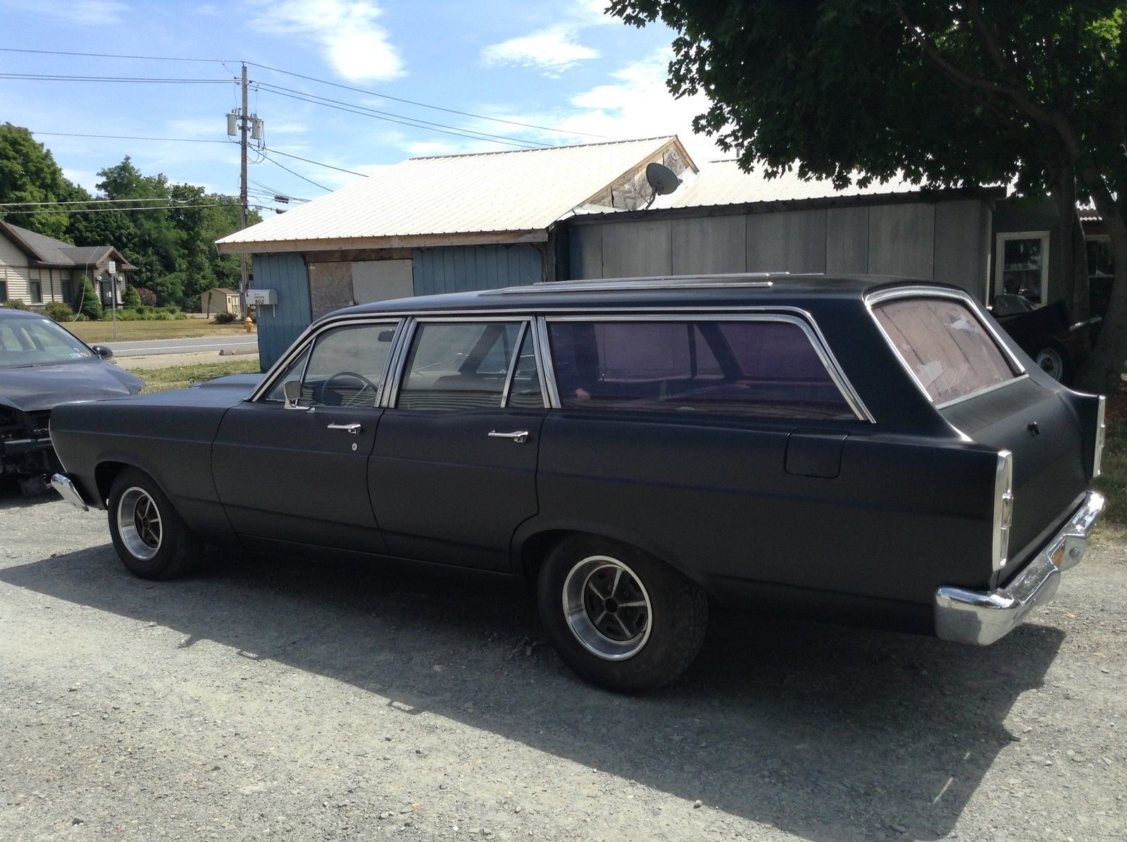 medium resolution of this satin black grocery getter has a ford 460 big block swapped in for good measure who needs headliner carpet and a spiffy interior when you are busy