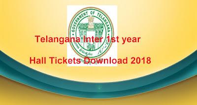 Telangana TS Inter 1st year Hall Tickets 2018, Manabadi TS Jr Inter Hall Tickets 2018 Download