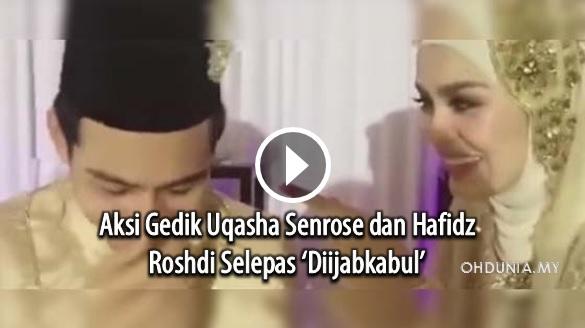 Aksi 'Gedik' Uqasha Senrose dan Hafidz Roshdi Selepas 'Diijabkabul'