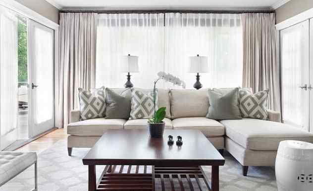 Contemporary living room curtains embellishinghome great