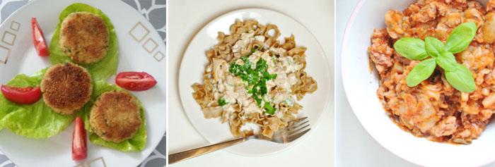 3 zdjęcia obiadów fit
