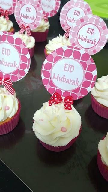 Suikerfeest cupcakes, suikerfeest printables, suikerfeest roze, suikerfeest cupcakes, action traktatie, traktatie van de action
