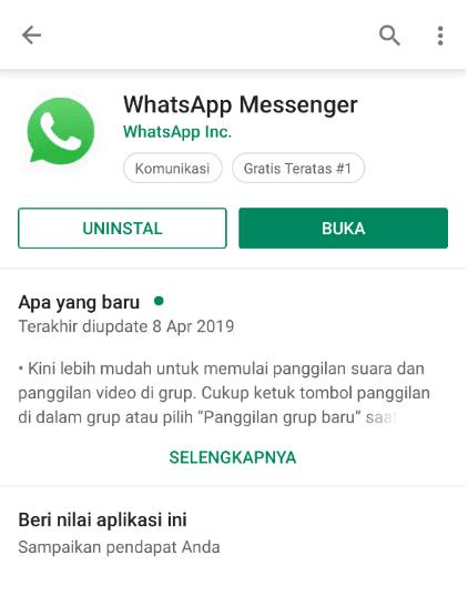 Buka Aplikasi WA