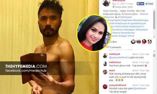 Wak Doyok sekali lagi mencetuskan kontroversi di laman sosial apabila ikon  fesyen itu memuat naik gambar  panasnya  di laman Instagram. e61fea20c6