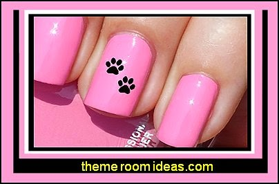 Paw Prints Water Slide Nail Art Decals