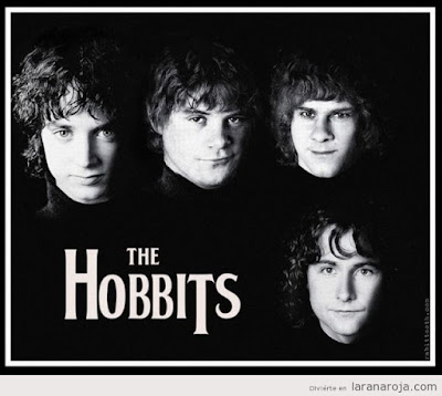 Meme de humor sobre The Beatles y El señor de los anillos