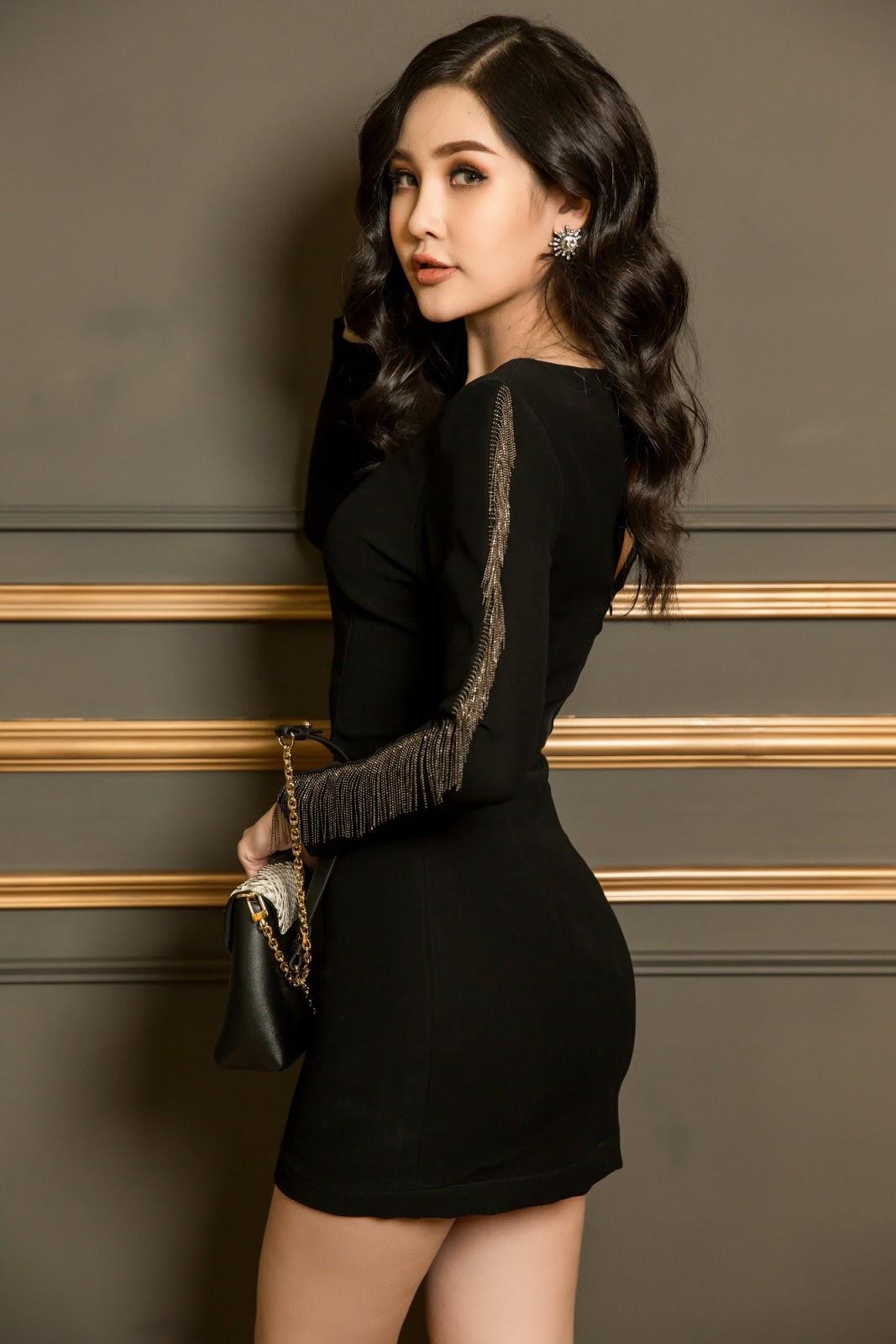 Hoa hậu Ngân Anh diện váy bó sát khoe thân hình chữ S đầy 'mê hoặc' -3