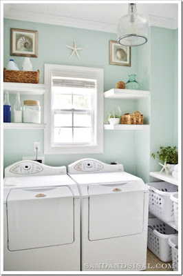 Beach Themed Laundry Room