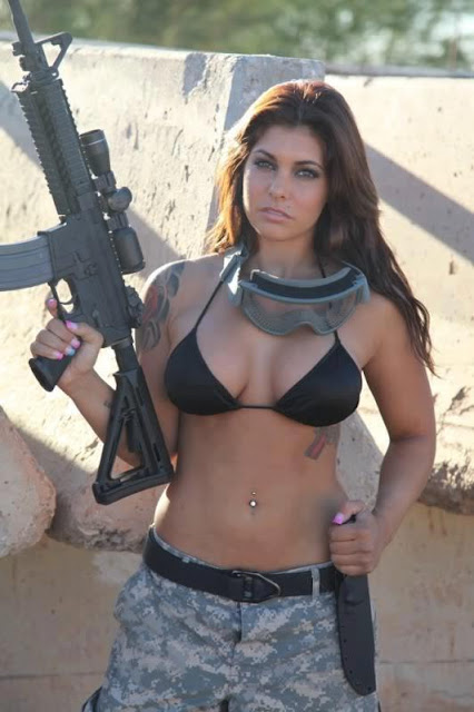Naked girls with guns Nude Photos 6