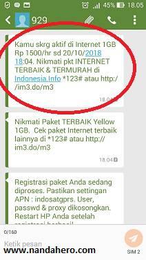 cara daftar paket indosat ooredoo murah 1gb 1500 only 4u 929