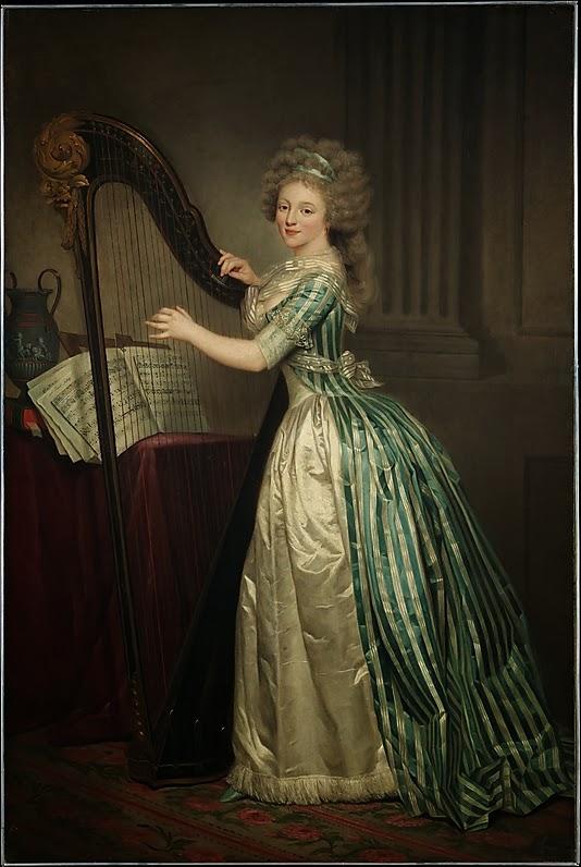 Autoportrait à la Harpe (1790), Rose-Adélaïde Ducreux